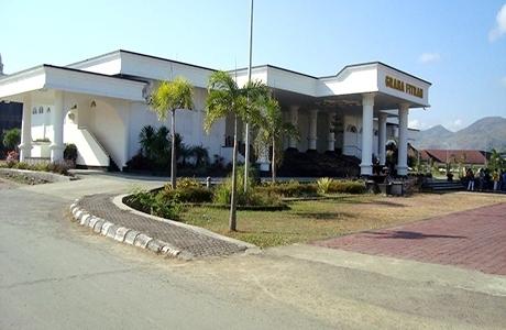 Meski Sudah Dihotmix, Gedung Graha Fitrah Tetap Bocor